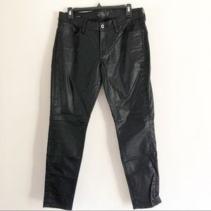 Lucky Brand Charlie Super Skinny coated jeans.